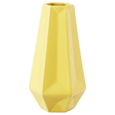 LIVSLÅNG Vase, gelb, 20 cm