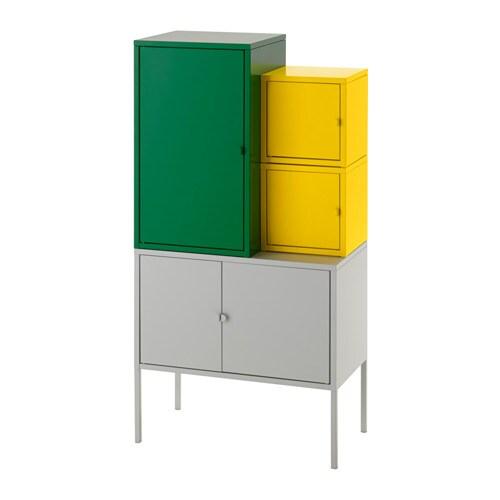 lixhult aufbewahrungskombi gr n gelb grau ikea. Black Bedroom Furniture Sets. Home Design Ideas