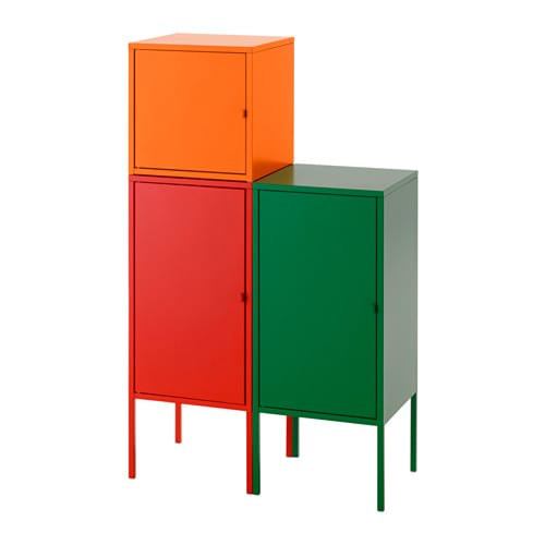 lixhult aufbewahrungskombi rot orange gr n ikea. Black Bedroom Furniture Sets. Home Design Ideas