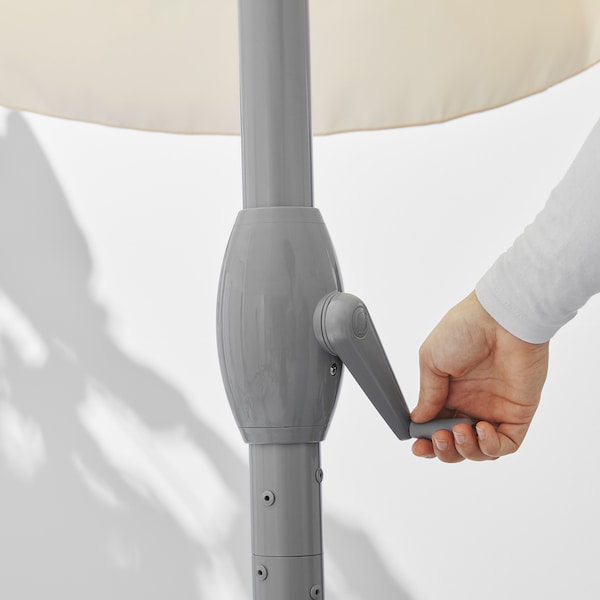 LJUSTERÖ Sonnenschirm, beige, 400 cm