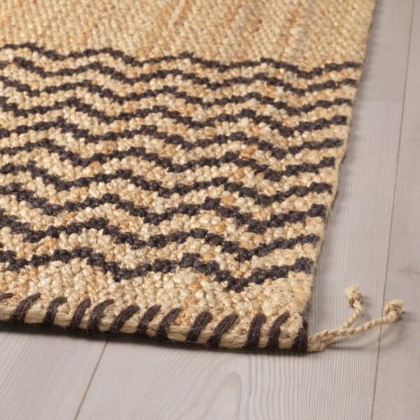 LÖNHOLT Teppich flach gewebt natur/dunkelbraun 230 cm 160 cm 10 mm 3.68 m² 2800 g/m²