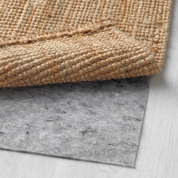 LOHALS Teppich flach gewebt, natur, 80x150 cm