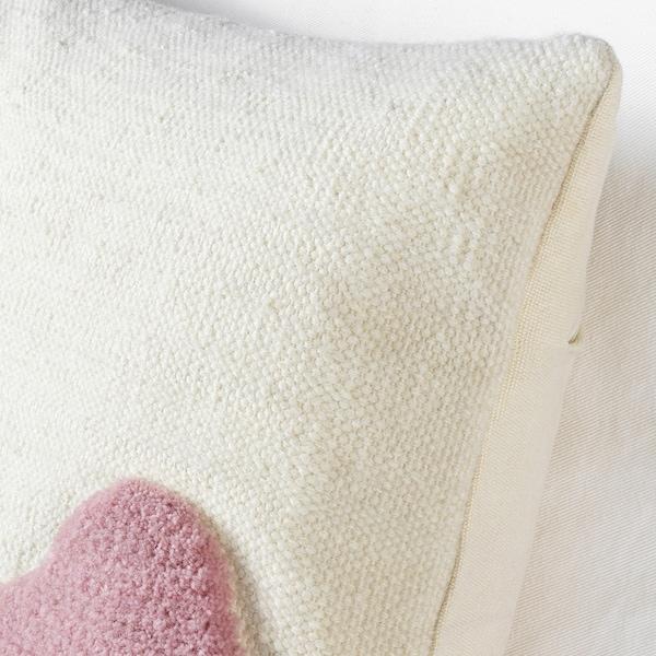 LOKALT Kissenbezug, natur lila/Handarbeit, 50x50 cm