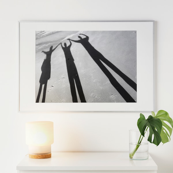 LOMVIKEN Rahmen, Aluminium, 61x91 cm
