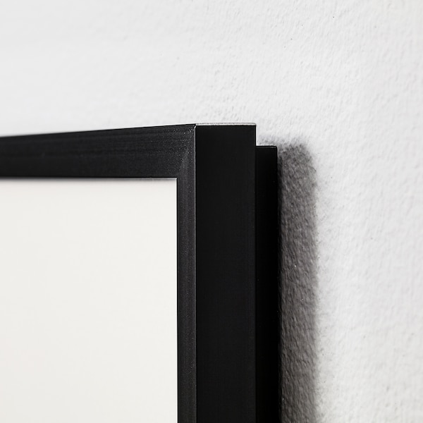 LOMVIKEN Rahmen, schwarz, 50x70 cm