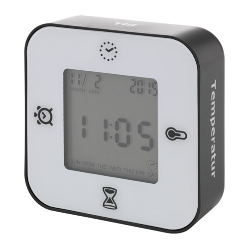 LÖTTORP Uhr/Thermometer/Wecker/Timer