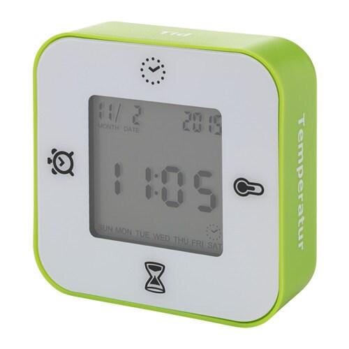 """IKEA LÖTTORP Uhr Wecker mit Thermometer Timer """" einfach ..."""
