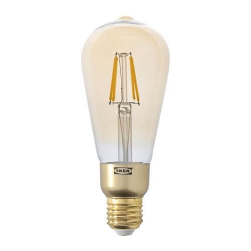 Lunnom led lampe e27 400 lm ikea for Led hangeleuchte dimmbar