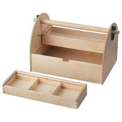 LUSTIGT Kasten für Bastelutensilien, Holz