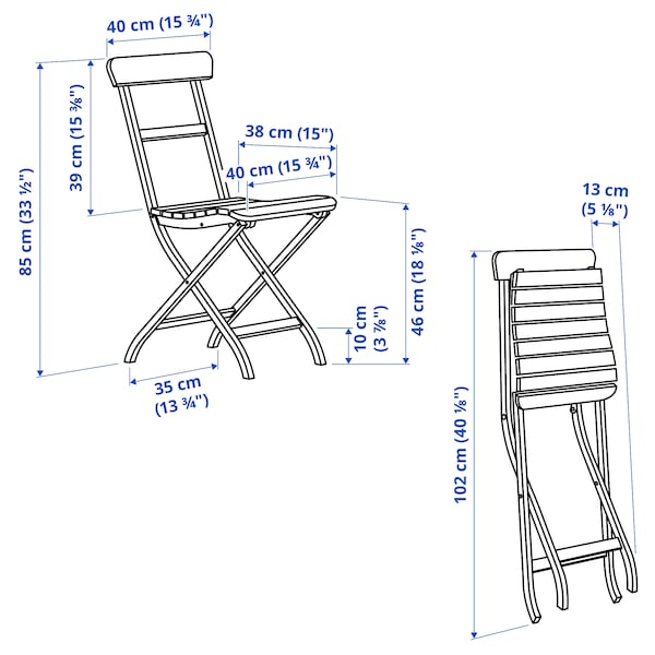 MÄLARÖ Stuhl/außen, faltbar weiß