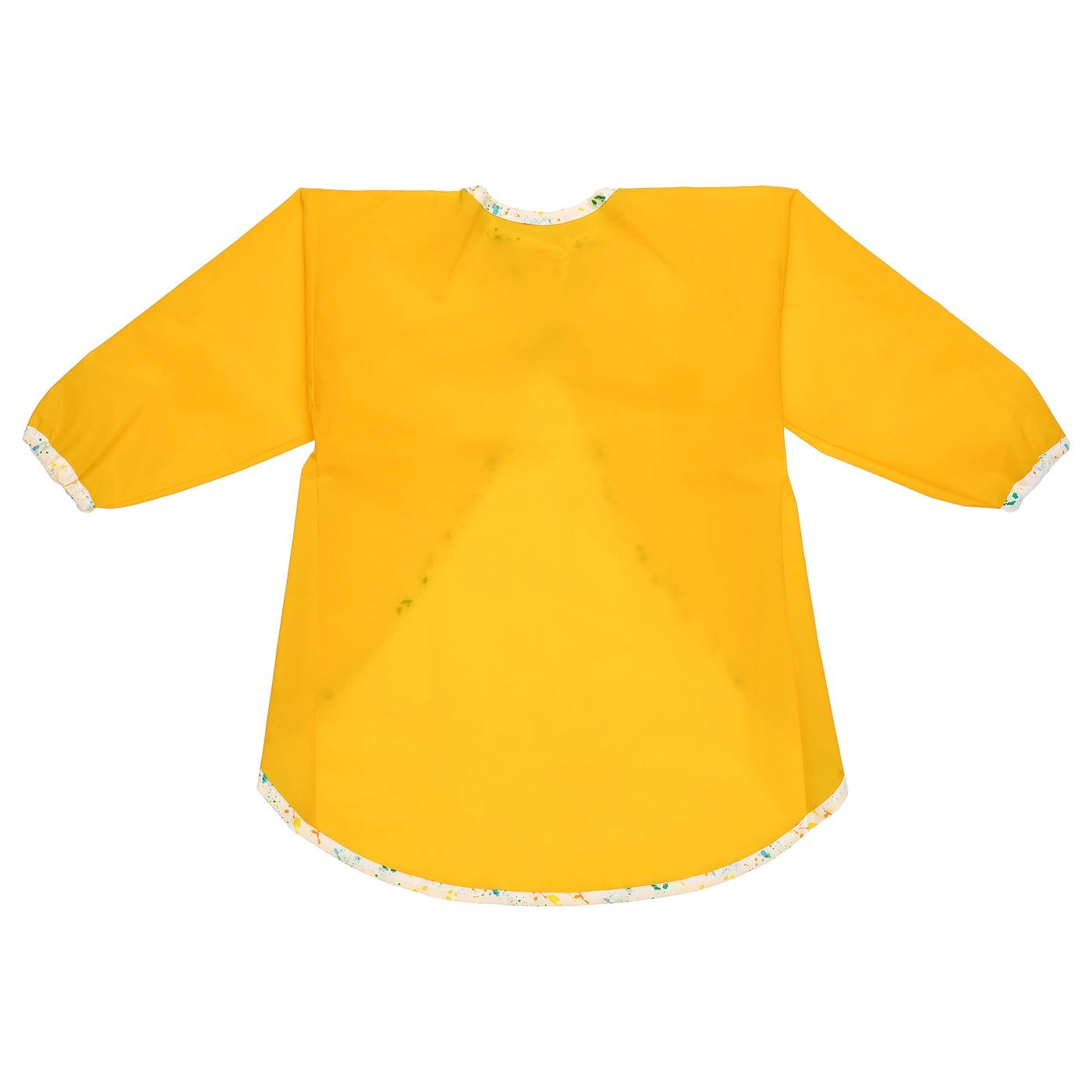 MÅLA Kinderkittel mit langen Ärmeln - gelb