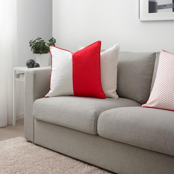 MALINMARIA Kissenbezug, rot/weiß, 50x50 cm