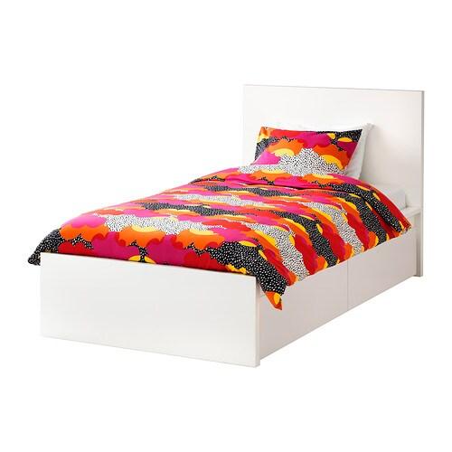 Einzelbett ikea malm  MALM Bettgestell hoch mit 2 Schubkästen - -, weiß - IKEA