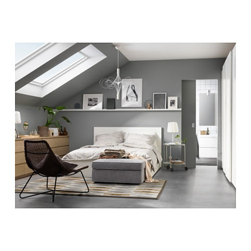MALM Bettgestell hoch mit 4 Schubladen - 160x200 cm, Luröy, weiß - IKEA