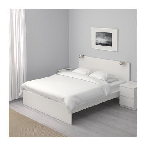 Malm Bettgestell Hoch 140x200 Cm Eichenfurnier Weiss Lasiert Ikea