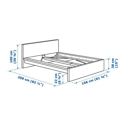 Malm Bettgestell Hoch 160x200 Cm Weiss Ikea