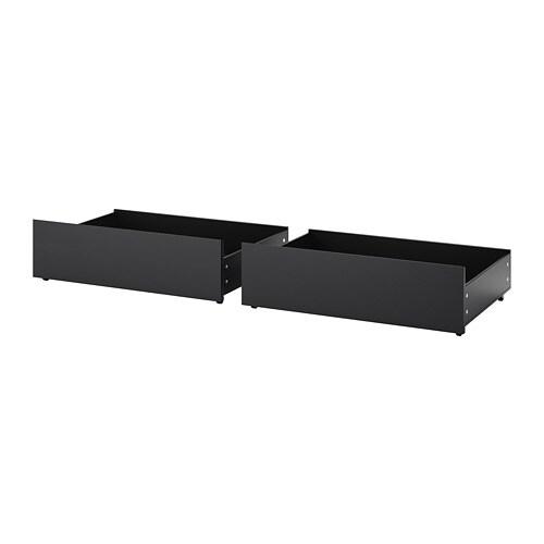 MALM Bettkasten für Bettgestell hoch - schwarzbraun - IKEA