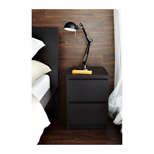 ikea kommode schrank mit 2 schubladen nachtisch schwarz ablagetisch tisch neu traumfabrik xxl. Black Bedroom Furniture Sets. Home Design Ideas