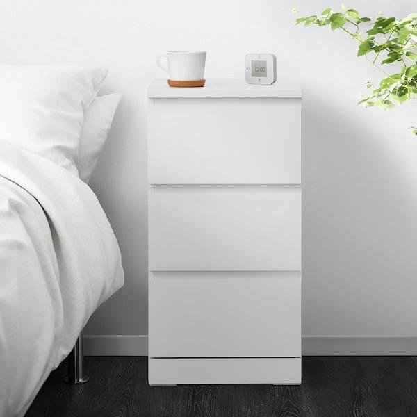 MALM Kommode mit 3 Schubladen, weiß, 40x78 cm