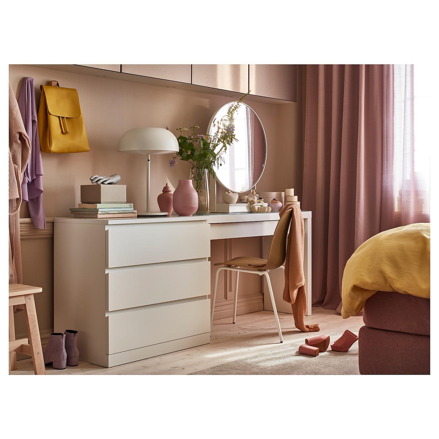 MALM Kommode mit 4 Schubladen Hochglanz weiß IKEA