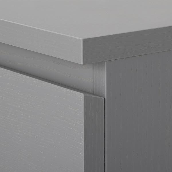 MALM Kommode mit 4 Schubladen, grau lasiert, 80x100 cm