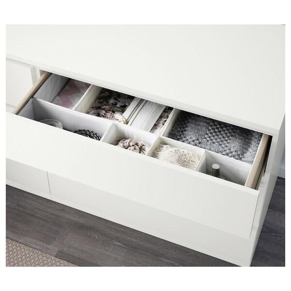 MALM Kommode mit 6 Schubladen, weiß, 160x78 cm