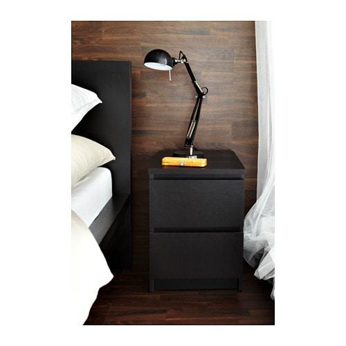 Ikea nachttisch malm  MALM Kommode mit 2 Schubladen - schwarzbraun - IKEA