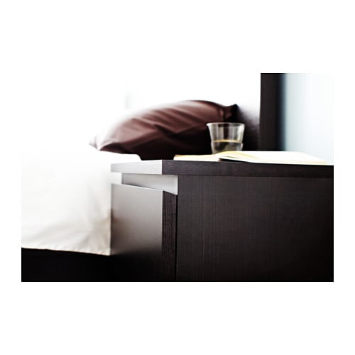 ikea kommode schrank mit 2 schubladen schwarz braun nachtisch ablagetisch neu ebay. Black Bedroom Furniture Sets. Home Design Ideas