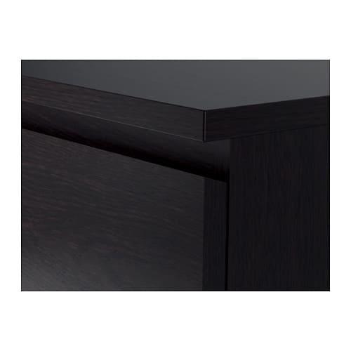 Kommode schwarz matt  MALM Kommode mit 4 Schubladen - schwarzbraun - IKEA