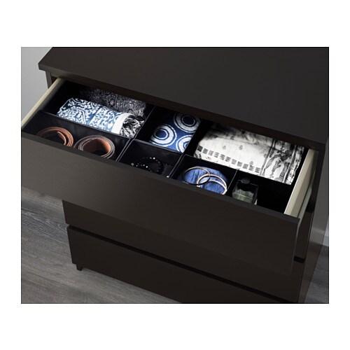 Kommode schlafzimmer dunkel  MALM Kommode mit 4 Schubladen - schwarzbraun - IKEA