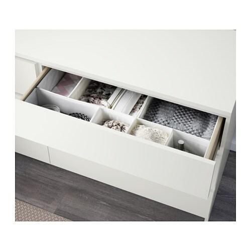 Malm Kommode Mit 6 Schubladen Weiss Ikea