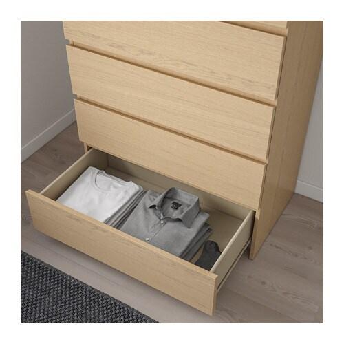 Malm Kommode Mit 4 Schubladen Weiss Ikea