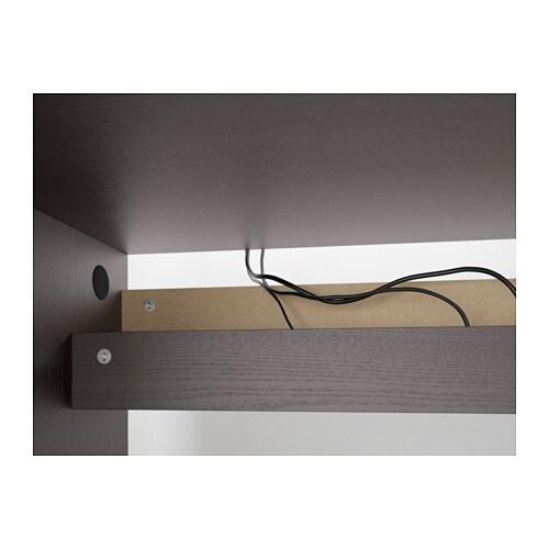 Ikea malm schreibtisch maße  MALM Schreibtisch - braun las. Eschenfurnier - IKEA