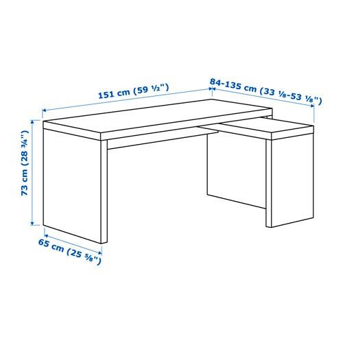 Malm Schreibtisch Mit Ausziehplatte Weiß Ikea