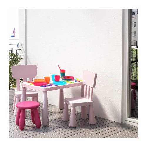 ikea mammut kinderstuhl rosa mit lehne sitz stuhl kinderm bel kindersitzgruppe ebay. Black Bedroom Furniture Sets. Home Design Ideas
