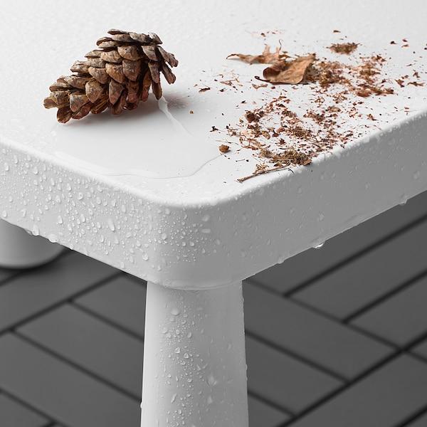 MAMMUT Kindertisch, drinnen/draußen weiß, 77x55 cm
