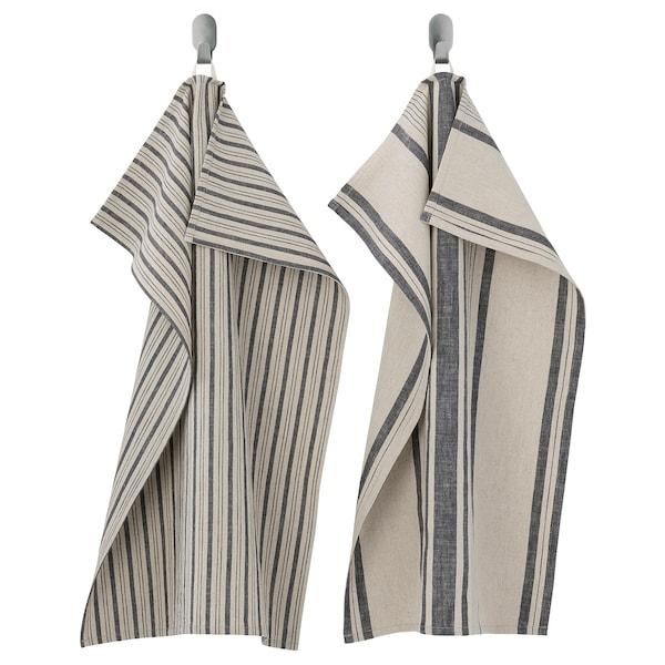 MARIATHERES Geschirrtuch, Streifen/grau beige, 50x70 cm
