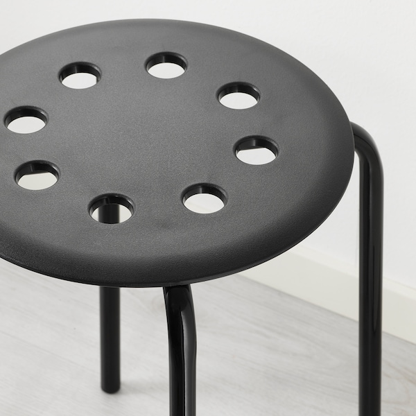 MARIUS Hocker, schwarz, 45 cm