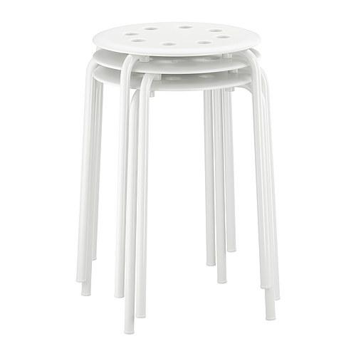 ikea marius hocker wei stappelhocker sitzhocker. Black Bedroom Furniture Sets. Home Design Ideas