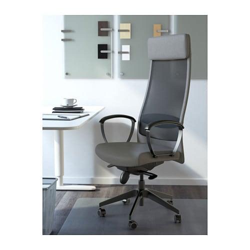 Schreibtischstuhl ikea  MARKUS Drehstuhl - Vissle dunkelgrau - IKEA