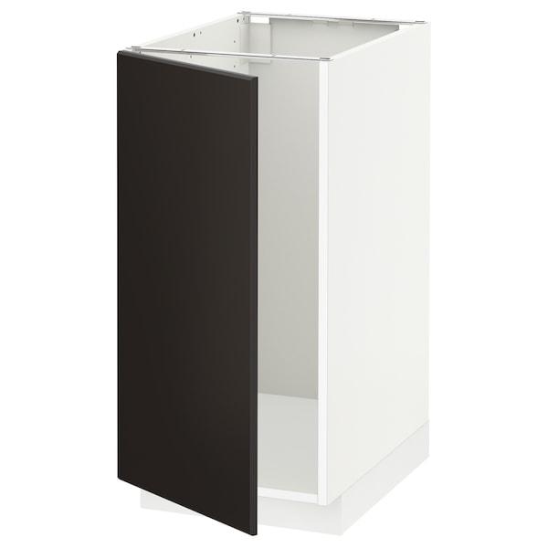 METOD Unterschr. für Spüle+Abfalltrennung weiß/Kungsbacka anthrazit 40.0 cm 61.6 cm 88.0 cm 60.0 cm 80.0 cm