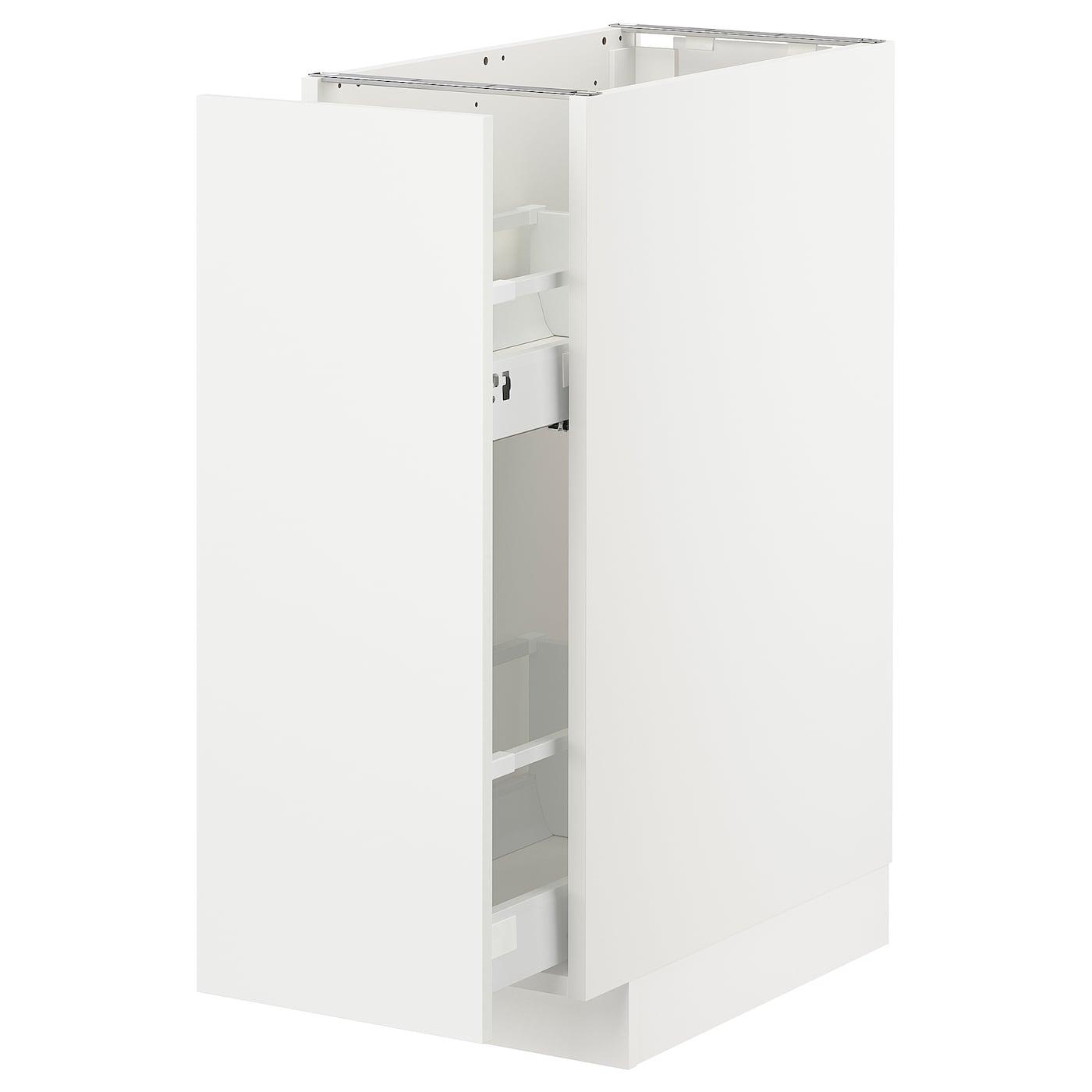 METOD Unterschrank+ausziehb. einrichtg. - weiß/Häggeby weiß 25x25 cm