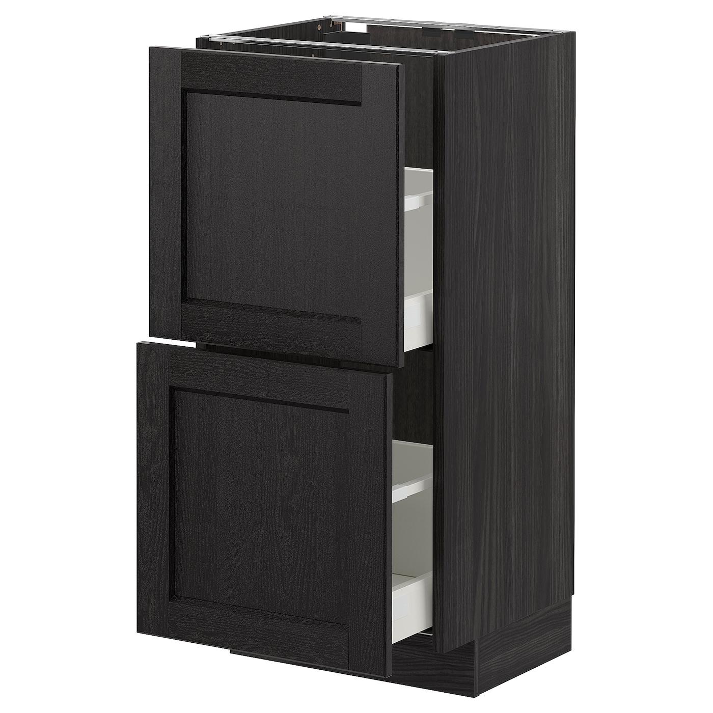 Tv Unterschrank Ikea : metod unterschrank mit 2 schubladen schwarz lerhyttan schwarz lasiert ikea deutschland ~ Watch28wear.com Haus und Dekorationen