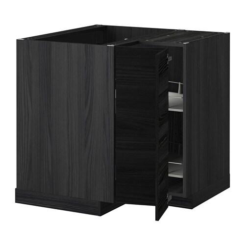 metod eckunterschrank karussell holzeffekt schwarz tingsryd holzeffekt schwarz ikea. Black Bedroom Furniture Sets. Home Design Ideas