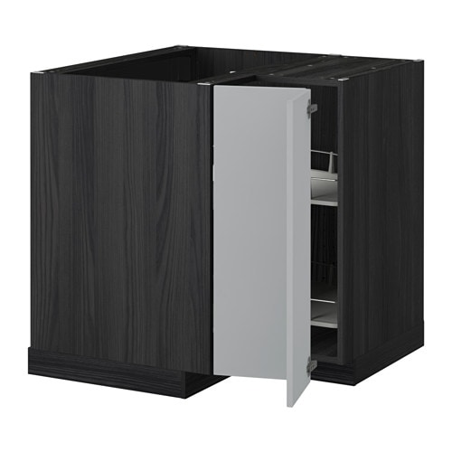 metod eckunterschrank karussell holzeffekt schwarz veddinge grau ikea. Black Bedroom Furniture Sets. Home Design Ideas