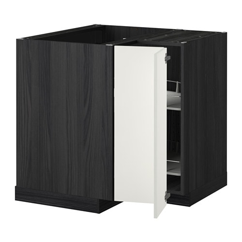 metod eckunterschrank karussell holzeffekt schwarz h ggeby wei ikea. Black Bedroom Furniture Sets. Home Design Ideas