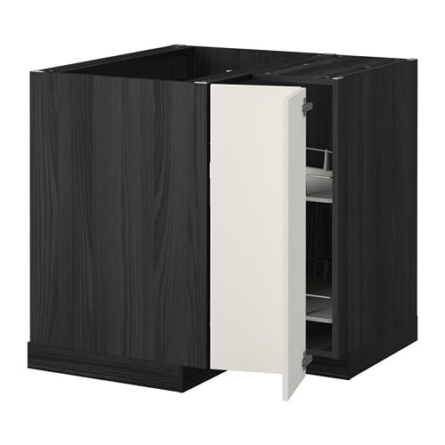 metod eckunterschrank karussell holzeffekt schwarz veddinge wei ikea. Black Bedroom Furniture Sets. Home Design Ideas