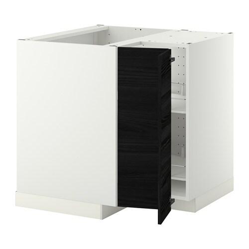METOD Eckunterschrank+Karussell - weiß, Veddinge weiß - IKEA | {Eck unterschrank küche 37}