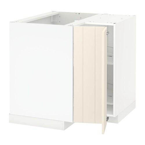 METOD Eckunterschrank+Karussell - weiß, Hittarp elfenbeinweiß - IKEA | {Eck unterschrank küche 84}