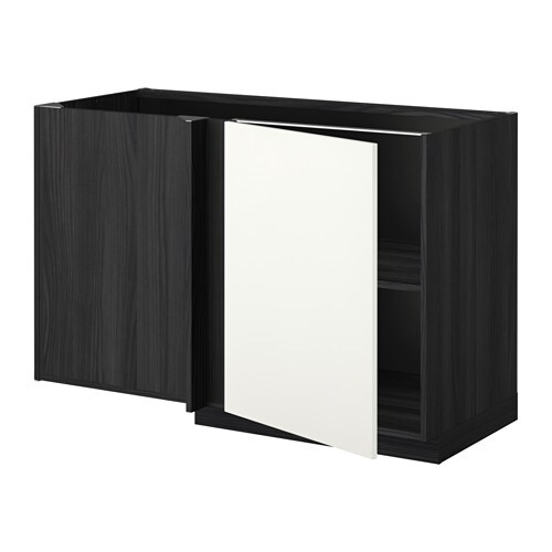 metod eckunterschrank mit boden holzeffekt schwarz h ggeby wei ikea. Black Bedroom Furniture Sets. Home Design Ideas